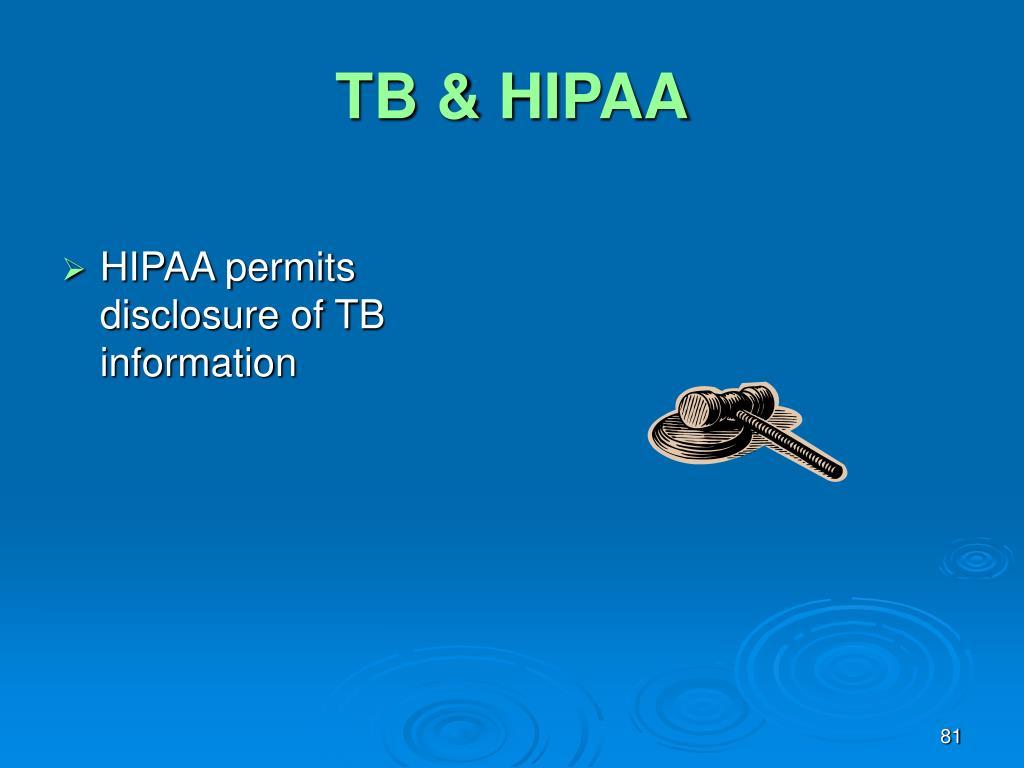 TB & HIPAA