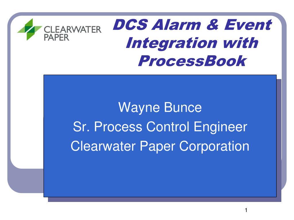 dcs alarm event integration with processbook l.