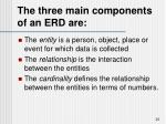 the three main components of an erd are