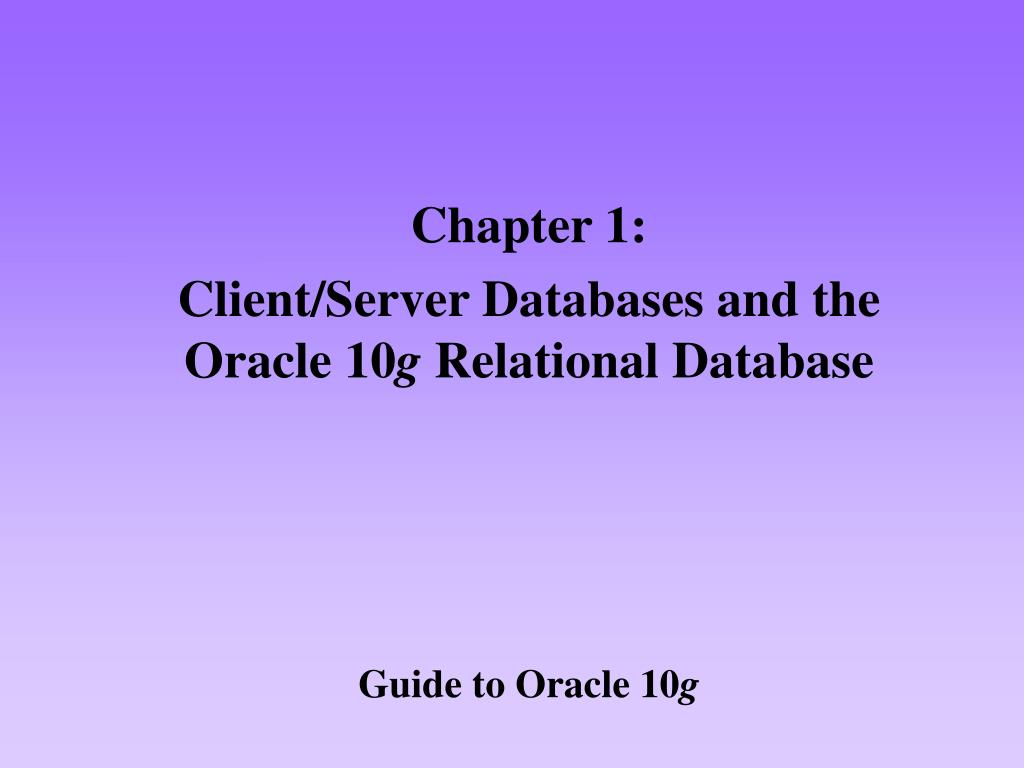 guide to oracle 10 g l.