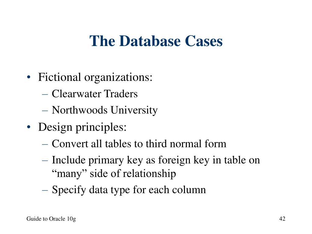 The Database Cases