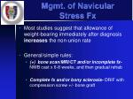mgmt of navicular stress fx