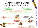 beverly cleary s other books and characters