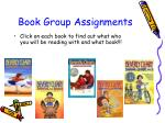 book group assignments