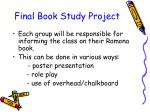 final book study project