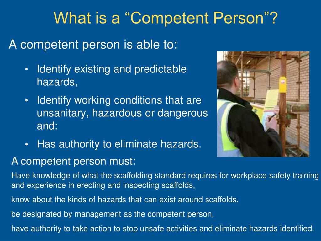 "What is a ""Competent Person""?"