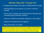 worker must be trained on