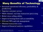 many benefits of technology