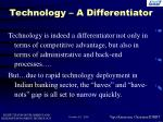 technology a differentiator