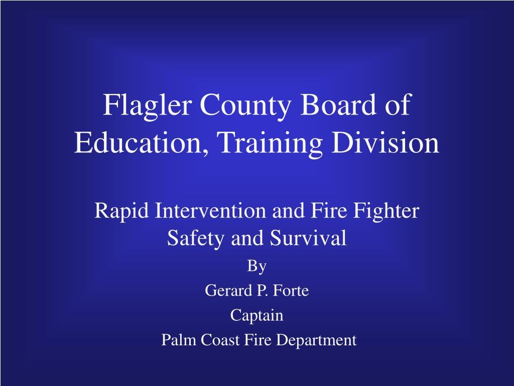 flagler county board of education training division l.