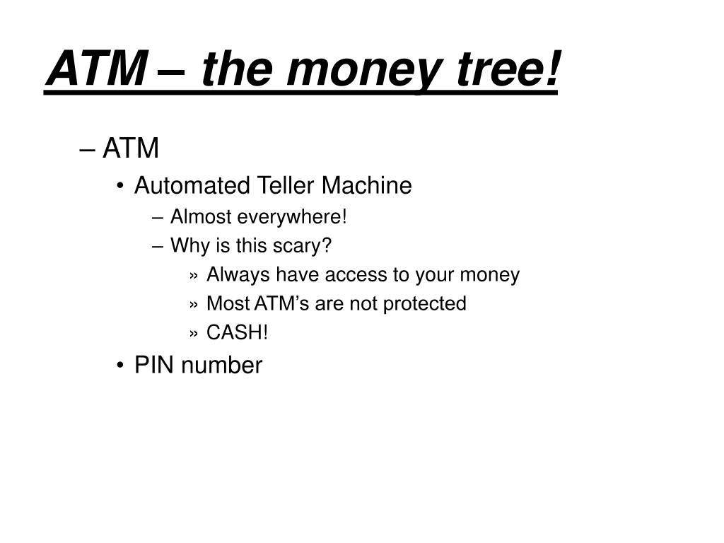ATM – the money tree!