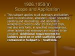 1926 1050 a scope and application