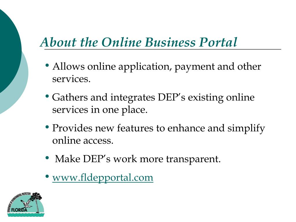 About the Online Business Portal