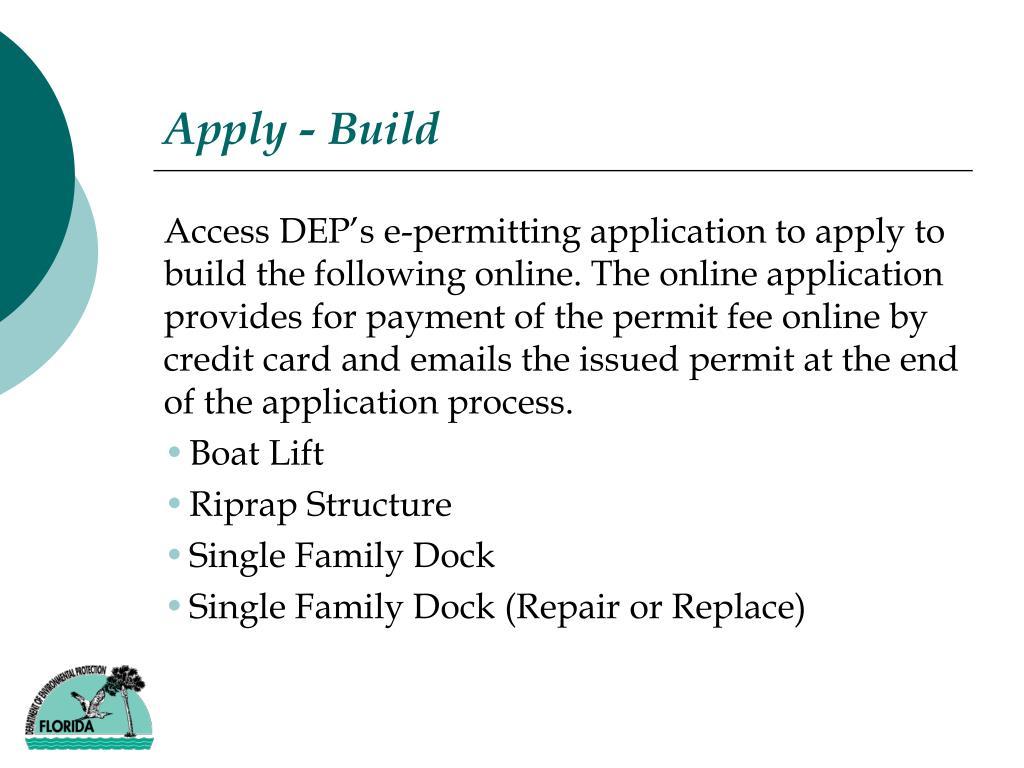 Apply - Build