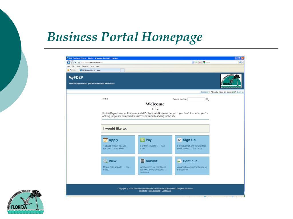 Business Portal Homepage