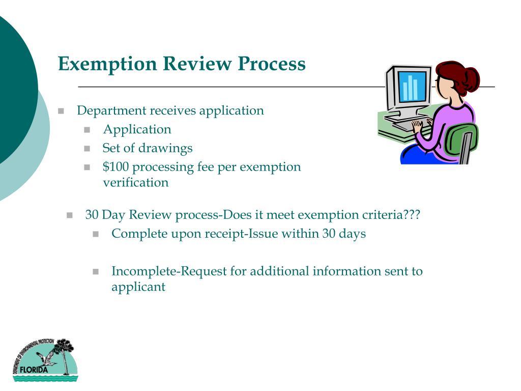 Exemption Review Process