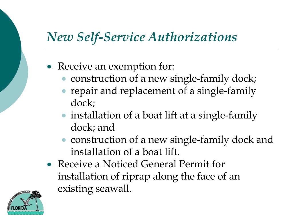 New Self-Service Authorizations