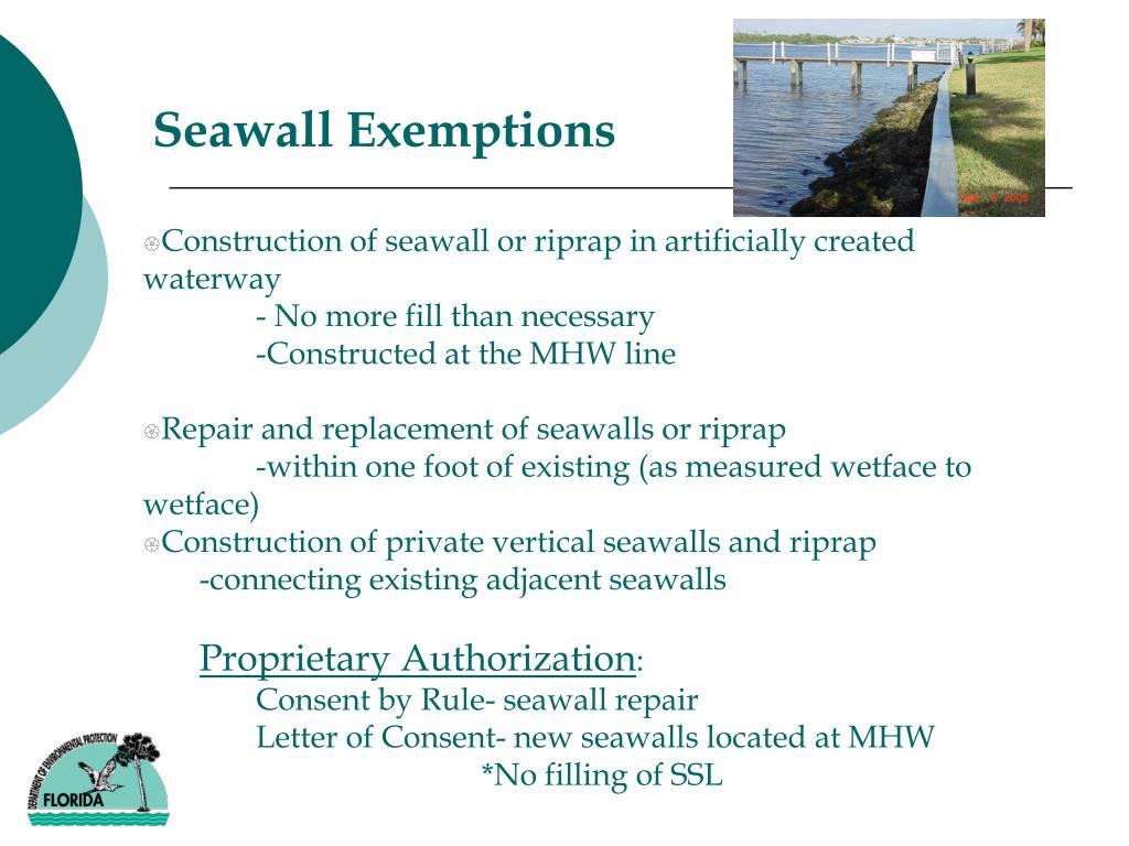 Seawall Exemptions
