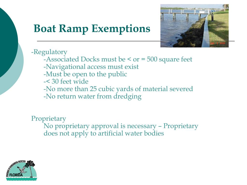 Boat Ramp Exemptions