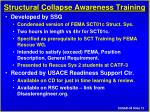 structural collapse awareness training