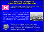 u s army corps of engineers urban search and rescue program