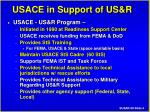 usace in support of us r