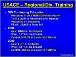usace regional div training