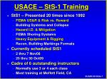 usace sts 1 training