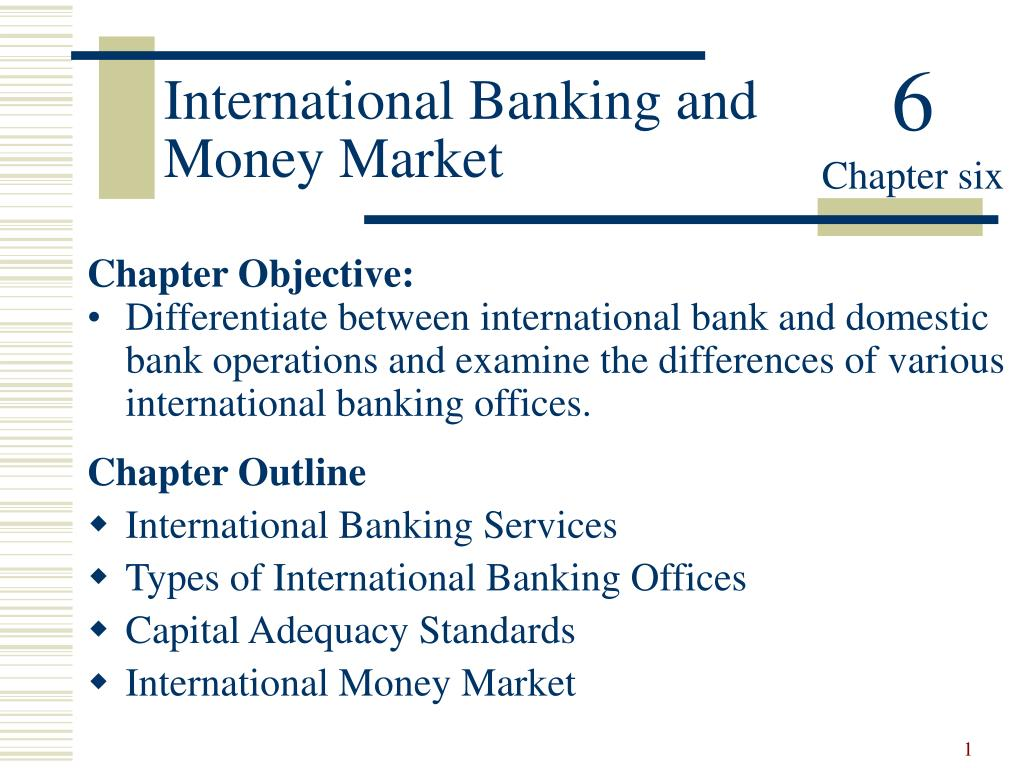 international banking and money market l.