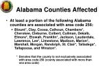 alabama counties affected
