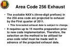 area code 256 exhaust