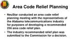area code relief planning