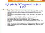 high priority scc approved projects 1 of 2