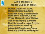 jaiib module c model question bank