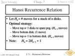 hanoi recurrence relation