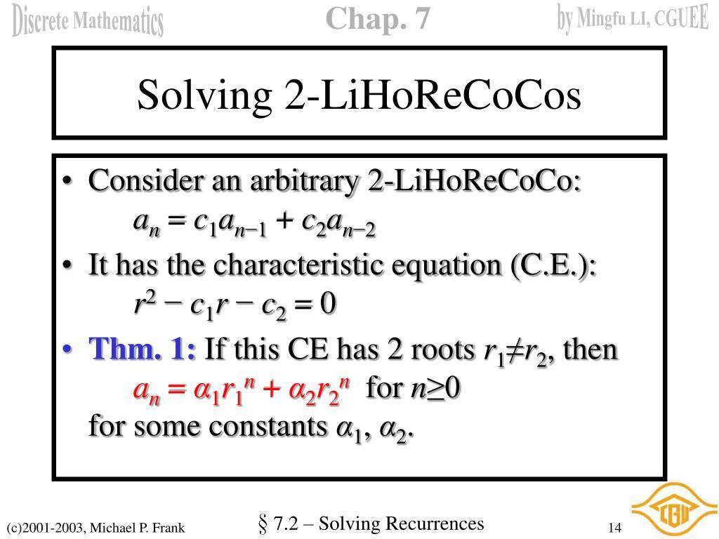 Solving 2-LiHoReCoCos