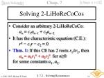 solving 2 lihorecocos