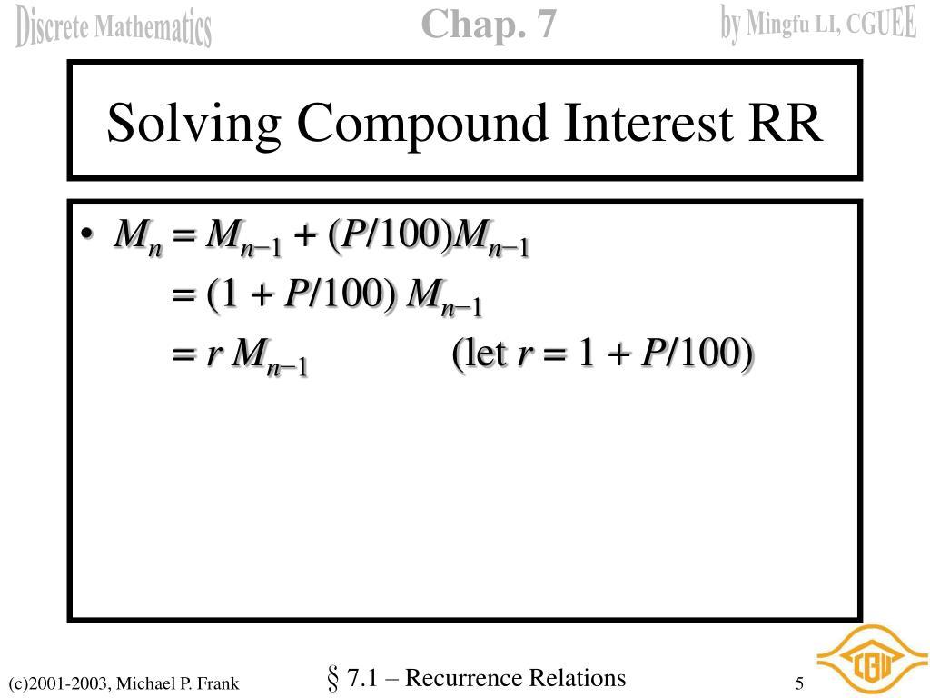 Solving Compound Interest RR