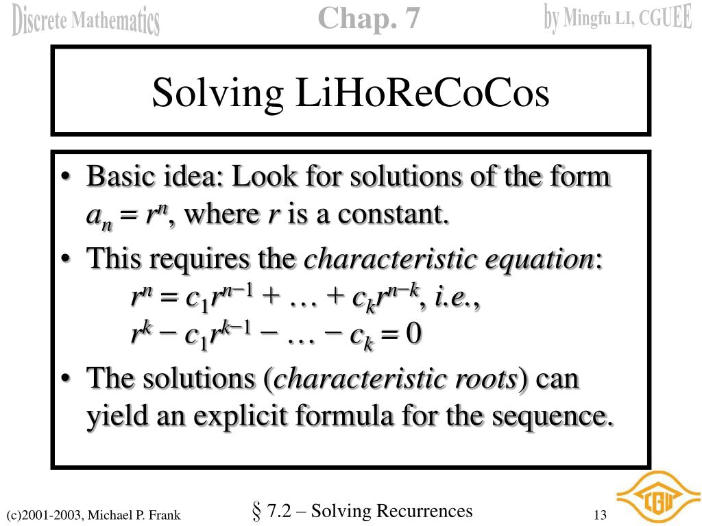 Solving LiHoReCoCos