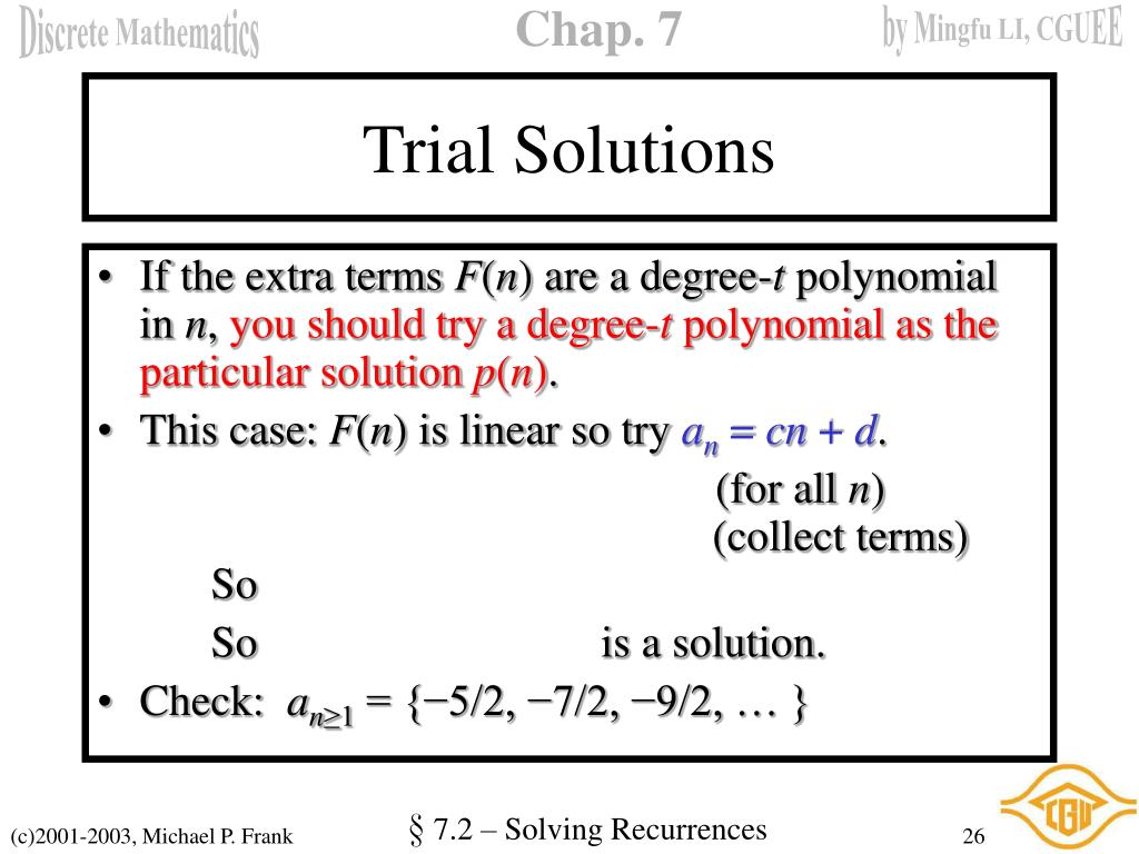 Trial Solutions