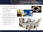 information stewardship