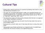 cultural tips