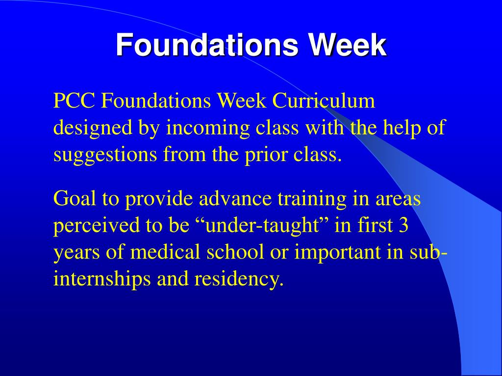 Foundations Week
