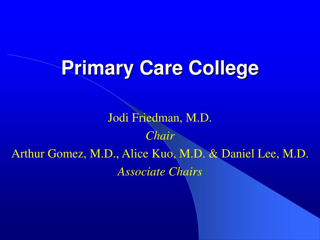 Primary Care College
