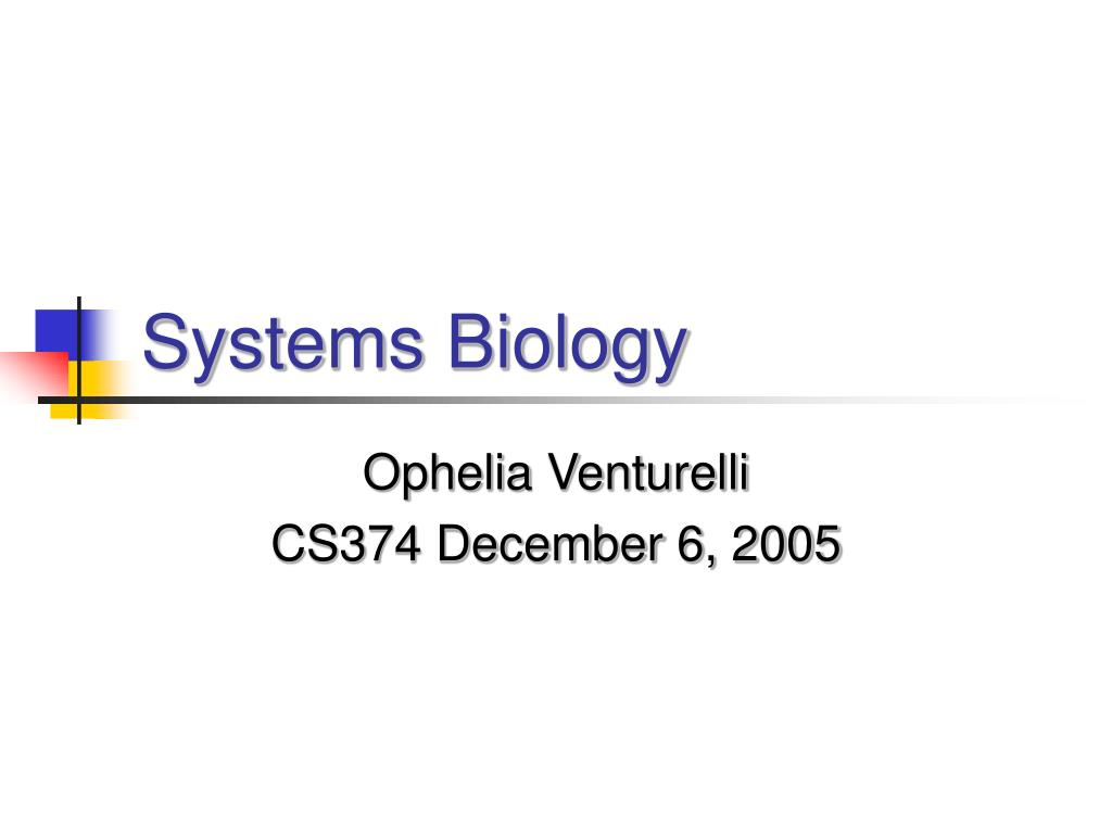 systems biology l.