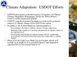 climate adaptation usdot efforts