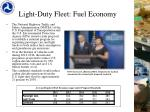 light duty fleet fuel economy