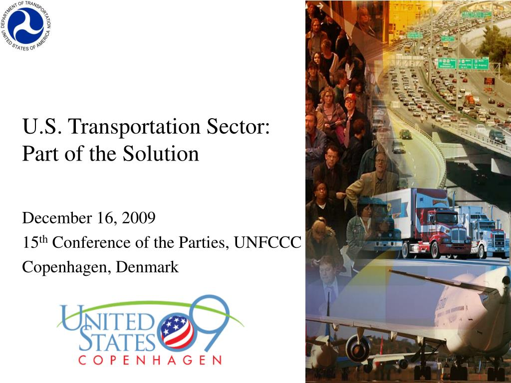 u s transportation sector part of the solution l.