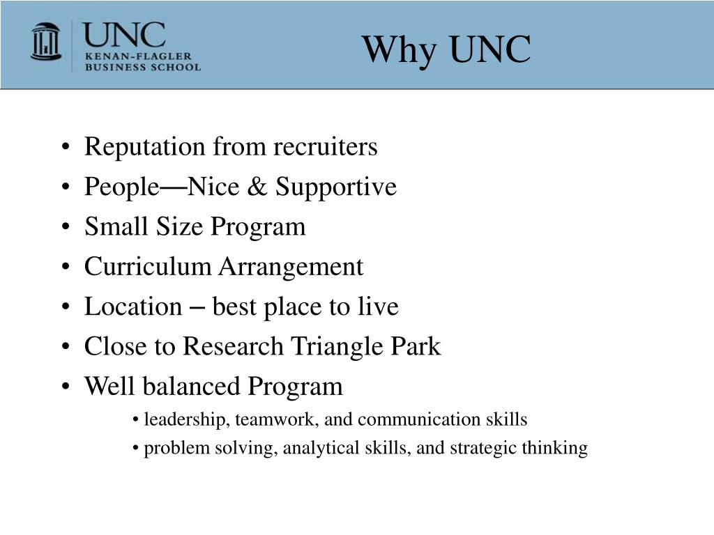 Why UNC