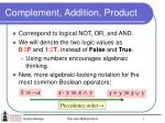complement addition product